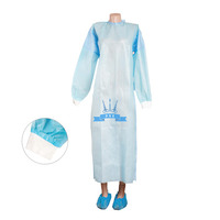 Dressing gown for visitors, on buttons XXL NEMAN, spunbond, group packaging, amount in the package - 20 pcs. Not sterile., в интернет-магазине