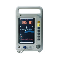 Anesthesia monitor (FORMER USE) with the ability to measure the parameters of blood pressure, pulse and blood oxygenation.