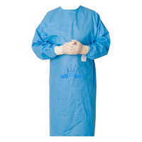 Surgical gown on the cuff, steel, size L, NEMAN, spunbond, individual packaging, package quantity - 10 pcs., Sterile, в интернет-магазине